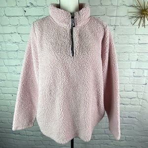 Bobbie Brooks Light Pink Sherpa Long Sleeve Top